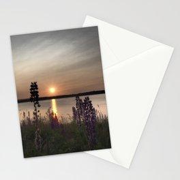 Lupin Sunset Stationery Cards