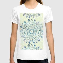 green mandala design T-shirt