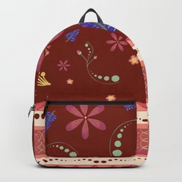 Otavalo print - red Backpack