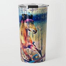 """""""Origins of the Sea Horse"""" Travel Mug"""