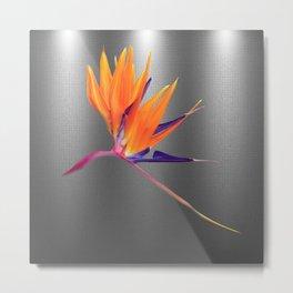 Alien Plant No.1, Exotic Life, Sci-Fi, Floral Art, Orange, Purple, Green,  Metal Print