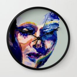 Face in Acrylic Wall Clock