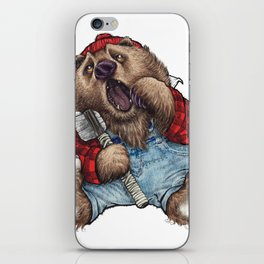 Sleepy LumberJack Bear iPhone Skin