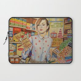 Supermarket vintage, painting, retro Laptop Sleeve