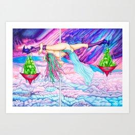 Pole Stars - LIBRA Art Print