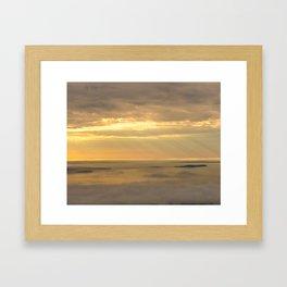 """""""Golden God Rays"""" Framed Art Print"""
