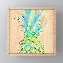 Pastel Pineapple Framed Mini Art Print