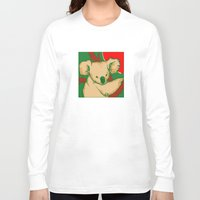 koala Long Sleeve T-shirts featuring Koala by whiterabbitart