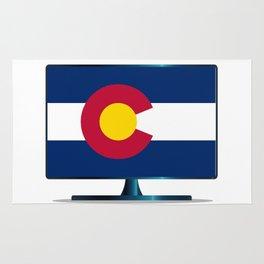 Colorado Flag TV Rug