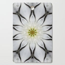 White Flower Design Cutting Board
