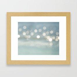 A Distant Beach Framed Art Print