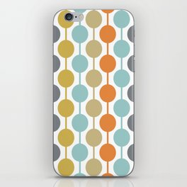 Retro Circles Mid Century Modern Background iPhone Skin