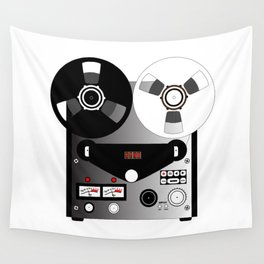 Black and White Recorder Wall Tapestry