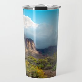 Clearing Storm Over the Superstition Mountians Travel Mug