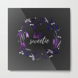 Hello Sweetie, Galaxy Wreath Dark Metal Print