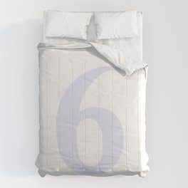 6 (LAVENDER & WHITE NUMBERS) Comforters