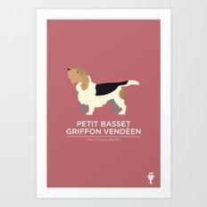 Petit Basset Griffon Deveen Art Print