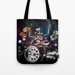 Drum Machine - The Band's Engine Tote Bag