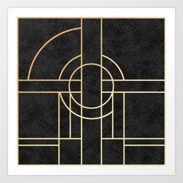 Art Deco Black Marble Kunstdrucke