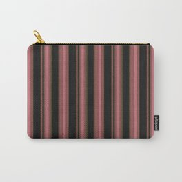 Simple pink, black striped pattern. Carry-All Pouch