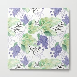 Lilac flowers on a white background. Metal Print