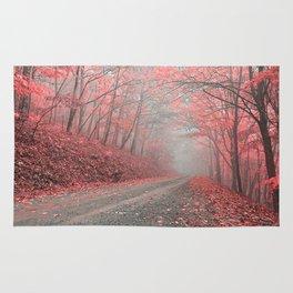 Misty Forest Road - Tickle Me Pink Rug