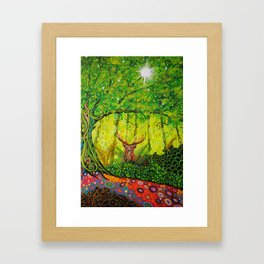 Stag and Tree of Life Framed Art Print