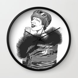 Lady Mary Heath by Szabolcs Kariko Wall Clock