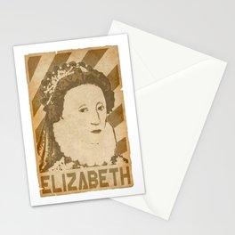 Elizabeth Queen Of England Retro Propaganda Stationery Cards