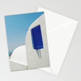 Santorini Blue & White Window Stationery Cards