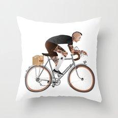 Bike Driver Throw Pillow