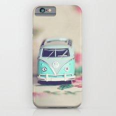 Aqua Bus with Roses Slim Case iPhone 6s