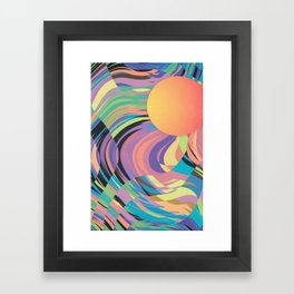 Magnetic Storm Framed Art Print