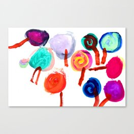 Lollipop Collection 2018 by #MahsaWatercolor  N1 Canvas Print