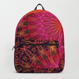 Mandala in red, orange in pink tones Backpack