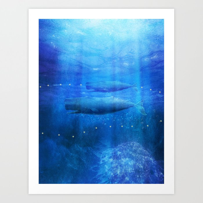 Save The Whales by Viviana Gonzalez Art Print