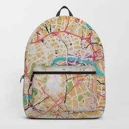 Watercolor Map of London Backpack