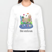 barcelona Long Sleeve T-shirts featuring Barcelona  by uzualsunday
