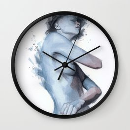 Watercolor Sketch 13 Wall Clock