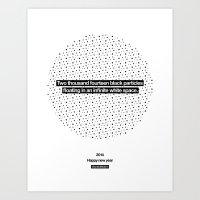 2014 Particles - White Art Print