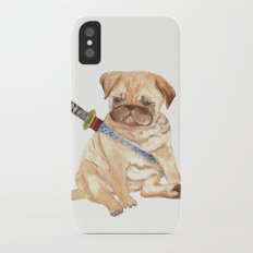 Ninja Pug iPhone X Slim Case