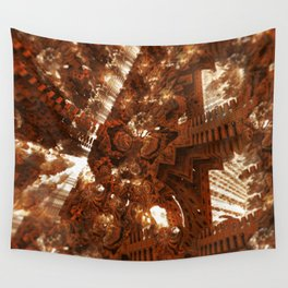 Cathedral shouting person fractal digital illustration Wall Tapestry