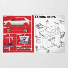 Lancia Delta History Model Kit in the WRC Rug