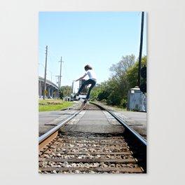 Train Hopping Canvas Print