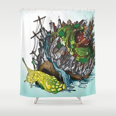 The Church is on Fire Shower Curtain