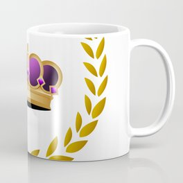 Royal king crown with gold laurel leaves Coffee Mug