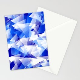 triangles in shades of blue Stationery Cards