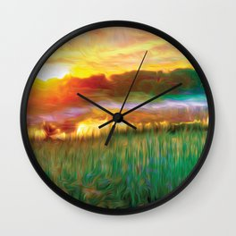 Sunrise Pond Wall Clock