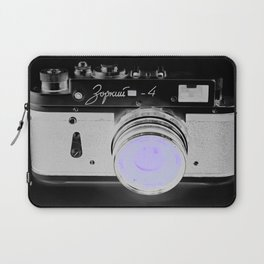 VinTage CaMera Black & White + Lavender Laptop Sleeve