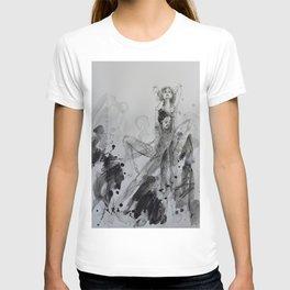 Dancing, mixed media drawing T-shirt